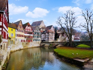The old town of Schwaebisch Hall