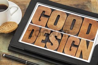 good design in wood type