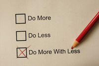 Do More With Less check boxes
