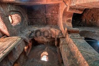 Interior ceiling of Tomb of Adam, Lalibela Ethiopia