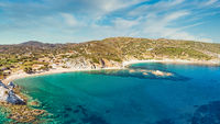 The beaches Stomio and Cheromylos in Evia island, Greece