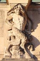Centaur marble statue in Dresden Zwinger