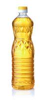 Bottle of unrefined sunflower oil