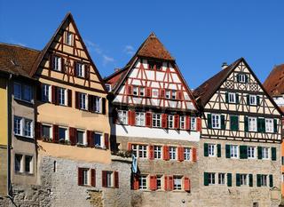 Fachwerkhäuser in der Altstadt von Schwäbisch Hall, Deutschland