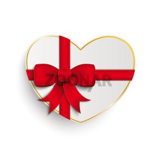 Red Cross Ribbon Golden Paper Heart