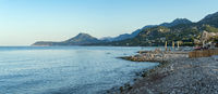 Morning stony beach, Bar, Montenegro