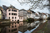Water canal of Strasbourg, Alsace, France.