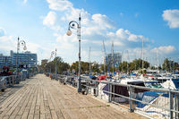 Wooden pier yachts hotels Cyprus