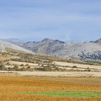 Spanish landscape in the morning