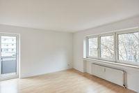 Leerer Raum als Wohnzimmer in Wohnung nach Renovierung