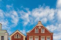 Historische Gebäude in der Altstadt von Verden an der Aller, Niedersachsen, Deutschland