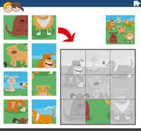 jigsaw puzzle game with funny dog characters