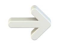 White right arrow icon 3D