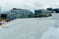 Modern luxury residential and office buildings in Oslo