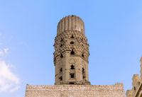 Minaret of public historic Al Hakim Mosque - The Enlightened Mosque, Moez Street, Cairo, Egypt