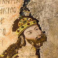 Mosaic of the Byzantine Emperor Isac I Komnenos