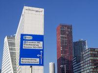 Bürogebäude Willemswerf an der Neuen Maas und andere Hochhäuser - Rotterdam