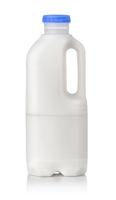 One liter plastic milk bottle