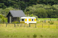 private camper New Zealand landscape