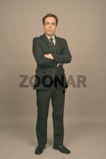 Portrait of handsome Persian businessman in suit