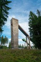Sprungturm der alten Erzgebirgsschanze in Johanngeorgenstadt