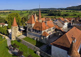 Schloss Avenches, Chateau d'Avenches, Avenches, Kanton Waadt, Schweiz