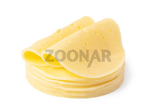 cheese slice on a white background