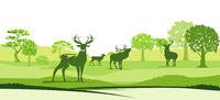 Natur und Hirsche.eps