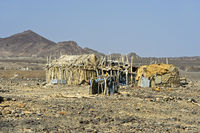 Traditionelle Unterkunft der Afar Nomaden