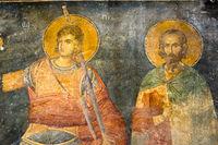 Byzantine fresco. Procopius of Scythopolis and Sabbas Stratelates