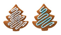 Gingerbread Christmas Tree Isolated On White Background