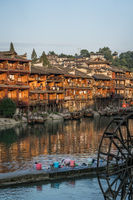 Life in Fenghuang at sunrise