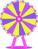 Wheel of Fortune, Roulette luck flat icon for casino games, winning, luck, success. Isolated on a white background. Vector illustration