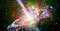 Pulsar highly magnetized neutron star. Elements of this image furnished by NASA