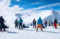 Saalbach, Austria ski slope