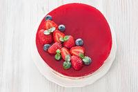 Strawberry cake mousse