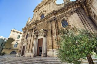 At the Basilica Pontificia ConCattedrale di Maria Santissima della Madia in Monopoli Apulia Italy