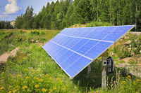 Solar Panel in Rural Area