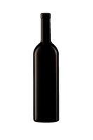 isolated wine bottle