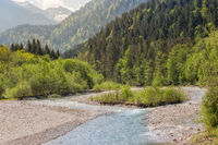 A wild river in the midst of impressive nature