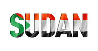 sudan flag text font