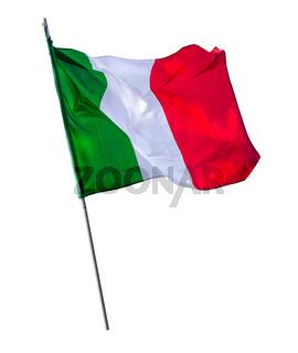 Isolated Italian Flagpole