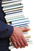 Hände tragen Bücher