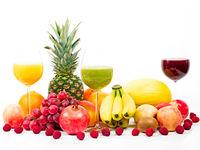 Früchte und Säfte