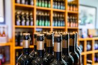 wines shopping background concept