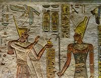 ancient color egypt images on wall