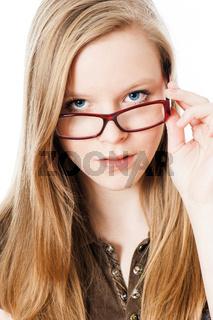 Jugendliche mit Brille