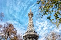 Famous Petrin tower in Prague look like Eiffel tower