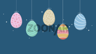 some easter eggs background decoration