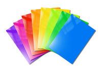 Multi color booklets range mockup on white background